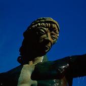 Detalj av staty Poseidon, Göteborg