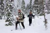 Människor med snöskor