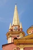 Church tower in Calvi, Corsica
