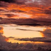 Molning skymningshimmel