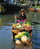 Grönsaksförsäljning, Thailand