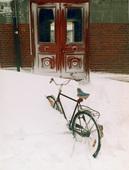 Insnöad cykel