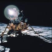 Månlandare på månen