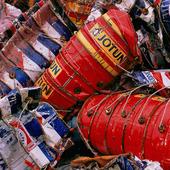 Plåtburkar för återvinning