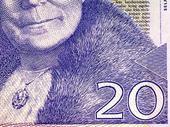 Detalj av 20-kronors sedel
