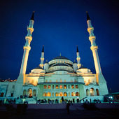 Mosque Kocatepe cami in Ankara, Turkey