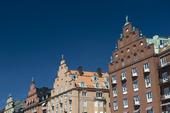 Trappstegsgavlar på byggnader i Stockholm