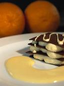Apelsin och chokladdessert