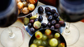 Oliver och rödvin