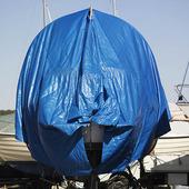 Presenning över båt
