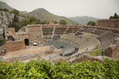 Amfiteater i Taormina på Sicilien, Italien