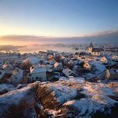 Skärhamn på vintern, Bohuslän