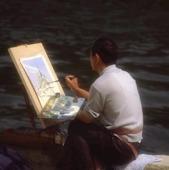 Konstnär i Paris, Frankrike
