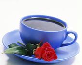 En röd ros till kaffet