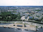 Vy över Tammerfors, Finland