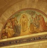 Jesusbild i kyrka i Jerusalem, Israel