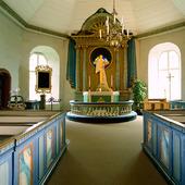 Interiör Mattmar kyrka, Jämtland