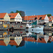 The port of Svaneke on Bornholm, Denmark