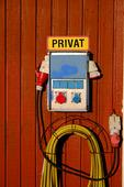 Privat eluttag