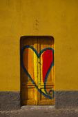 Hjärta på dörr