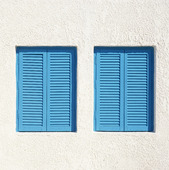 Blue shutters, Greece