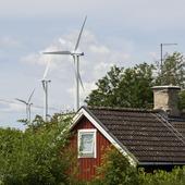 Vindkraftverk vid stuga