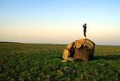 Man på sten