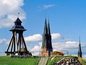 Domkyrkan och klockstapel i Uppsala, Uppland