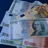Eurosedlar och svenska sedlar