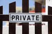 Privat skylt