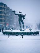 Vinter Götaplatsen, Göteborg