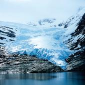 Glaciärarm från Svartisen, Norge