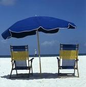 Solstol och parasoll