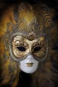 Traditionell venetiansk karneval mask. Venedig, Italien