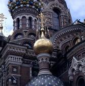 Kyrka i St Petersburg, Ryssland