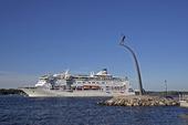 Birka Paradise vid Nacka strand, Stockholm