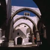 Klostergård på Patmos, Grekland