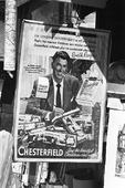 Reklamaffisch för cigarettmärke med Ronald Regan