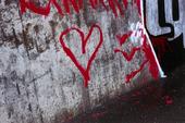 Hjärta på mur