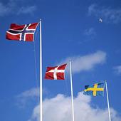 Norska, danska och svenska flaggan
