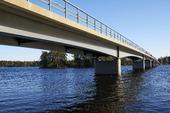 Bro över Dalälven vid Södra Sundet - Hedesunda, Uppland