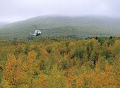 Helikopter vid Kebnekajse, Lappland