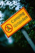 Skylt - Camping förbjuden