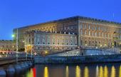 Stockholms slott i skymning