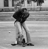 Människa på gata
