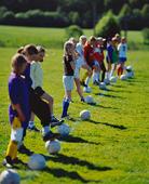 Fotbollsträning, flickor