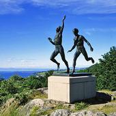 Skulptur Löparna vid Gränna, Småland