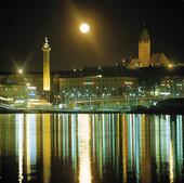 Kvällsvy Göteborgs hamn