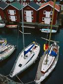 Segelbåtar vid Smögen, Bohuslän