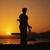 Fiskare med våg